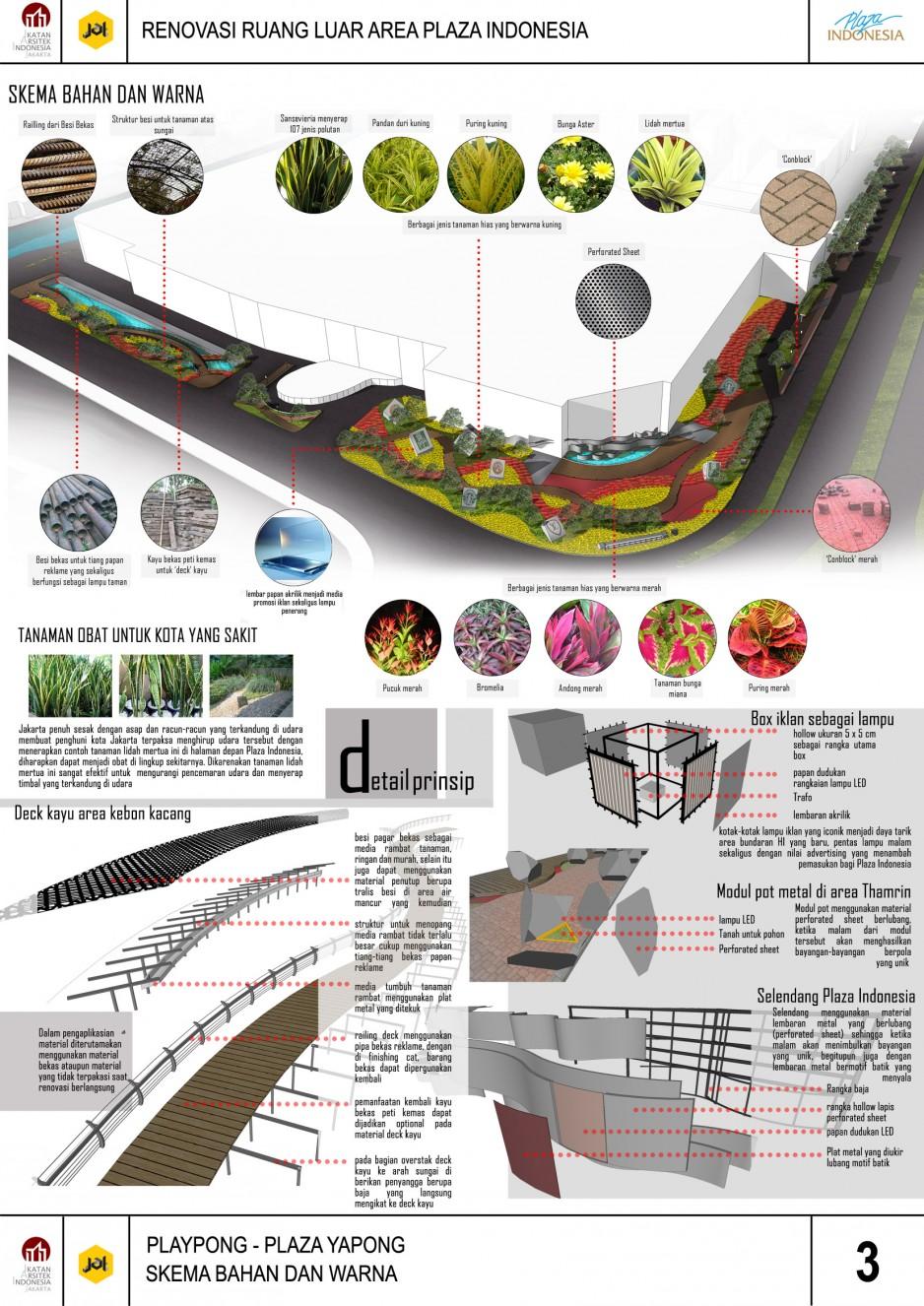 Juara 1 Sayembara Renovasi Ruang Luar Plaza Indonesia