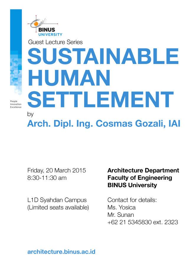 Guest Lecture Series - Cosmas Gozali