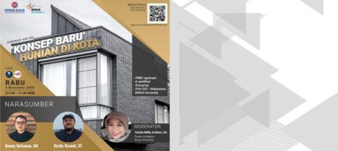 Seminar Online – Konsep Baru Hunian Di Kota